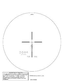 Elcan CX5396 reticle for 7.62mm LMG