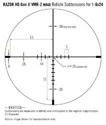 Vortex VMR-2 (MRAD) Reticle
